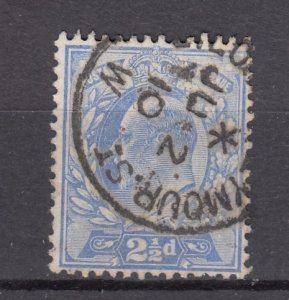 J27540 1902-11 great britain used #131 king