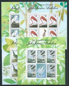 Grenada 1352-55 Audubon m/s set MNH