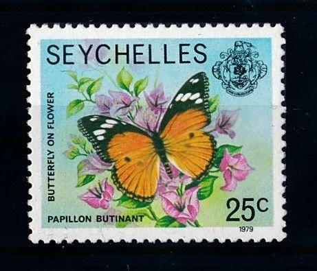 [70723] Seychelles 1979 Insect Butterfly Flower with year 1979 From set MNH