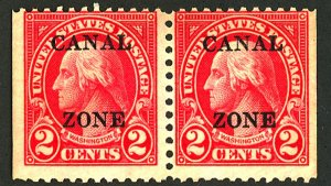 CANAL ZONE #101 MINT PAIR NG