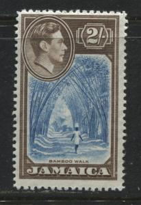 Jamaica KGVI 1938 2/ brown & bright blue mint o.g.