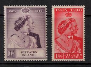 Pitcairn Island 1946 SC 11-12 Set NH CV $56.75