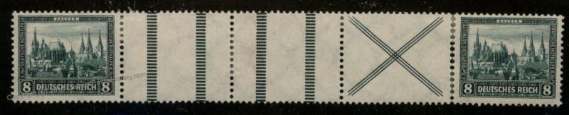 Germany 1930 Weimar Nothilfe 8pf Aaachen MiWZ2 MH Weimar Zusammendruck Se- 88433