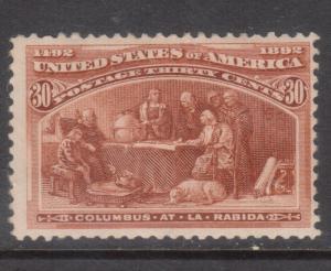 USA #239 Mint Fine Original Gum Hinge Remnant