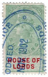 (I.B) QV Revenue : House of Lords 10/-