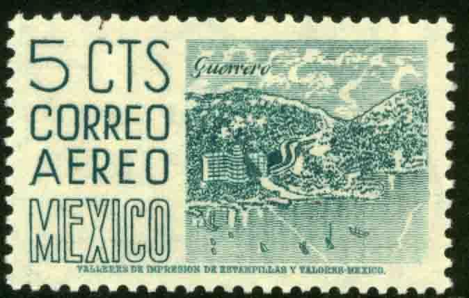 MEXICO C218, 5cents 1950 Definitive 2nd Printing wmk 300. MINT, NH. F-VF.