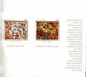 Canada Scott 1743-1749a Self Adhesive Art Booklet 1998