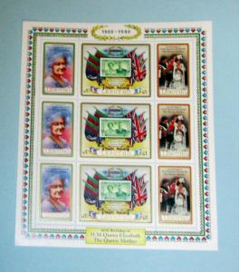 Lesotho - 313, MNH Sheet of 9, Complete. Queen Mother. SCV - $3.50