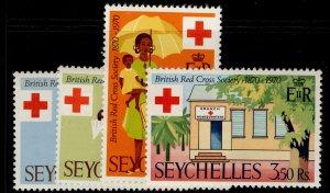 SEYCHELLES QEII SG284-287, complete set, NH MINT.