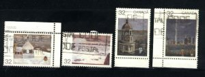 Can #1018-19,1024,1027  used VF 1984 PD