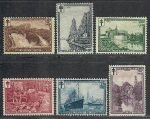 $Belgium Sc#B93-B98 M/H/VF, Cv. $50