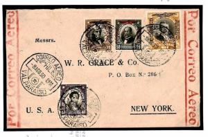 Z163 Chile Foreign Air Mail Cover 1930 {samwells-covers}