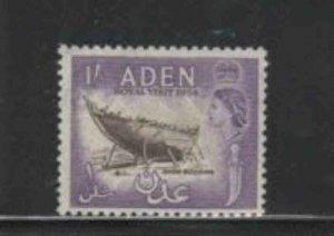 ADEN #62 1954 ROYAL VISIT MINT VF NH O.G