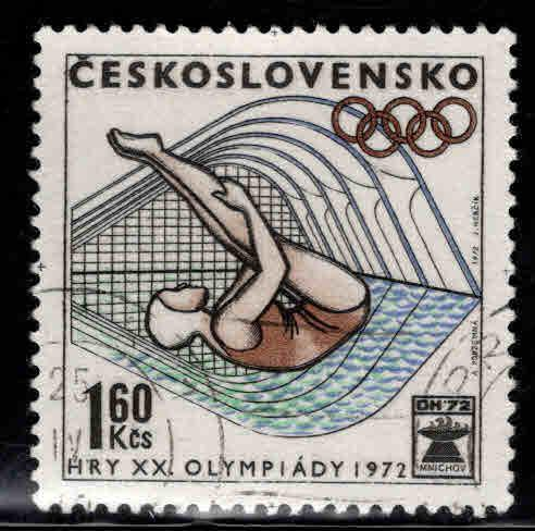 Czechoslovakia Scott 1814 Used CTO Olympic stamp