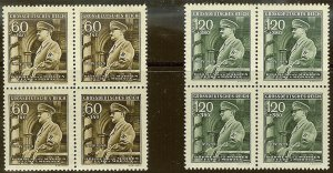 Stamp Germany Bohemia B&M Mi 136-7 Sc B25-6 Block 1944 WWII Fuhrer Hitler MNG