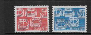 ICELAND, 404-405, MNH, FIVE ANCIENT SHIPS