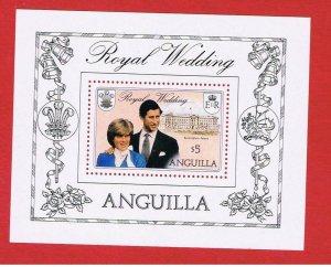 Anguilla  #447 MNH OG   Royal Wedding  souvenir sheet    Free S/h