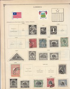 Liberia - small stamp collection-1 on double-side Album pages