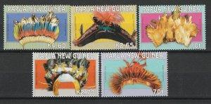 Papua New Guinea MNH 1126-30 Headdress Art 2004