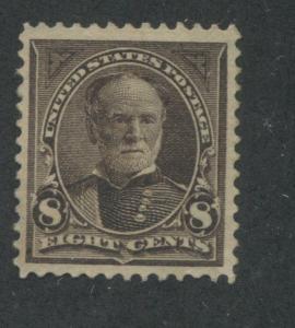 1895 US Stamp #272 8c Mint Hinged VF Original Gum Catalogue Value $90