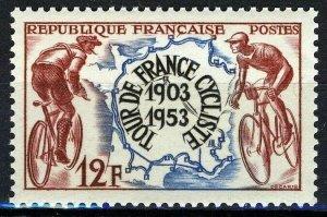France 1953, 12 Fr 50 years of Tour de France VF MNH, Mi 977 1,8€