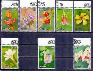 Kinshasa. 1984. 853-60. Orchids flora. MNH.
