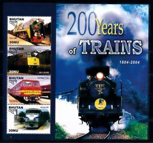 [61486] Bhutan 2005  Railway Train Eisenbahn Chermin De Fer Sheet MNH