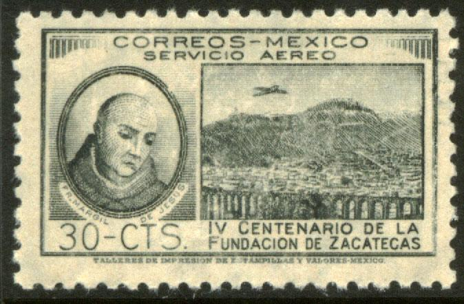 MEXICO C163, 30¢ 400th Anniversary of Zacatecas. Mint, NH. F-VF.