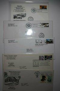 Omaha Stamp Show Lot of 5 Omaha NE Multiple Years Philatelic Expo Cachet Covers