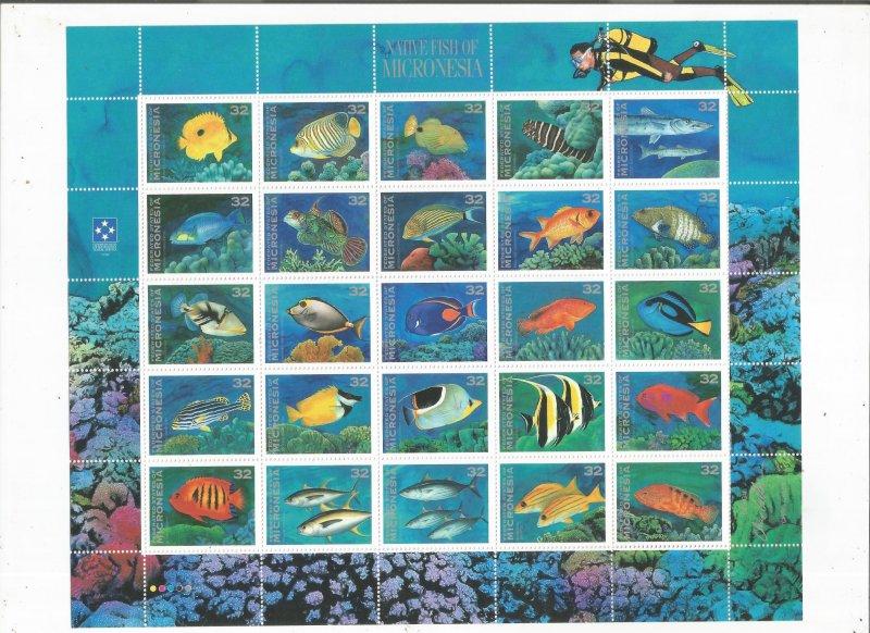 MICRONESIA, SCOTT# 227, FULL SHEET, MNH, OG