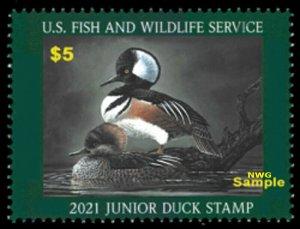 #JDS29 2021 Junior Duck Stamp (after June 25) - MNH