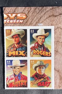US 2010 Cowboys Plate Block of 4 MInt 4 designs MH #4449a TR P1111