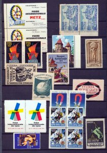 Germany France Metz Davos Red X Poster Labels Cinderella MNH MH (35+)NT 8768