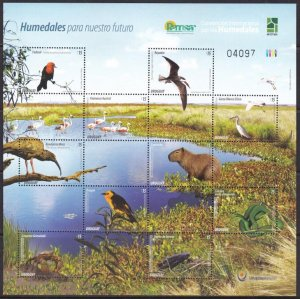 Uruguay, Fauna, Birds, Animals  MNH  / 2015