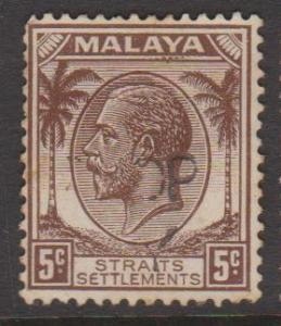 Straits Settlements Sc#221 Used