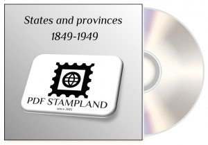 States and provinces  1849-1949 (5 albums) PDF STAMP ALBUM PAGES