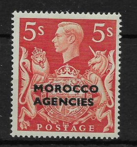MOROCCO AGENCIES SG93 1949 5/= RED OVPT ON GB MNH