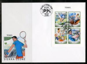 SIERRA LEONE 2018 TENNIS  SHEET FIRST DAY COVER