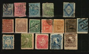 1866 to 1884 Uruguay stamps used including #33 43A high value