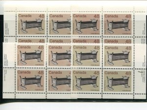 Canada #929i  M/S Plate Blocks  with color error  NH     - Lakeshore Philatelics