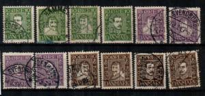Denmark Scott 164-175 Used (Catalog Value $93.00Denmark Scott 164-175