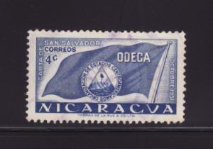 Nicaragua 740 U ODECA Flag (A)