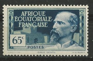 French Equatorial Africa # 51 Emile Gentil  0.65fr  (1)    Unused