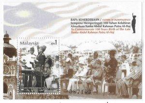 Malaysia 2003 Tunku Adbul Rahman Putra Prime Minister Sc 921 MNH Bo22