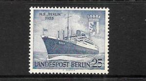GERMANY BERLIN   1954   25 pf  SHIP  MLH  SG B124
