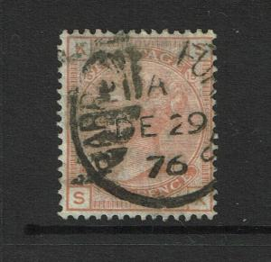 Great Britain SG# 152 Used / Plate 15 / Wmk Large Garter - S4490