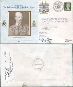 CDM2a RAF COMMANDERS SERIES Frederick Sykes Signed by Gp Capt G J Oxlee (N)