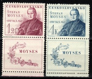 Czechoslovakia #336-7 MNH  With Labels CV $7.50  (X270)