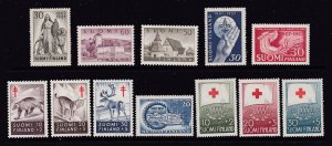 Finland x 12 decent MH from 1950's
