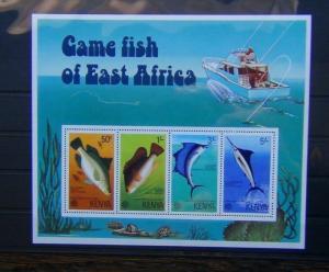 Kenya 1977 Game Fish of East Africa Miniature Sheet MNH